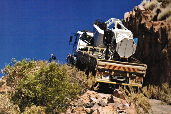 Gambsberg telescope transport